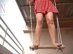 Depraved housewife swinging...