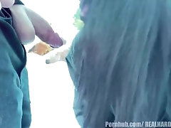 Asian Teen Almost caught giving...