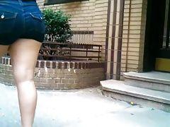 Meaty Ass Teen Tight Shorts...