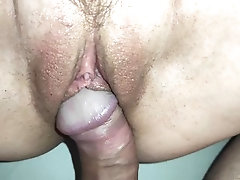 Slow CLOSE UP Hairy Pussy Fuck-...