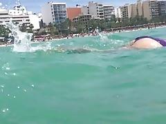 Hot teen ass swimming