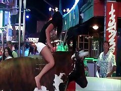 Slutty Ass and Upskirt On The Bull