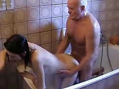 OLD MAN AND TEEN n31 brunette...