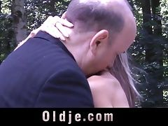 Old man fucks anal and vaginal...