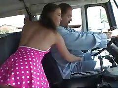 Naughty school-bus driver !!!