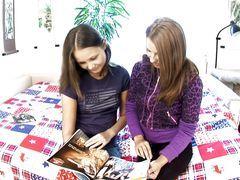 Cute Teens Experiment In Lesbian...