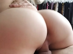 Riding cock for creampie