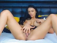 Beautiful Babe Fucks Her Pussy...