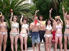 Crazy Japanese pool party with...