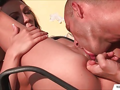 Hot Outdoor Footjob