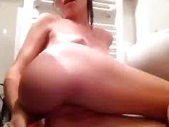 Teen Masturbating with Brush n2