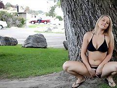 Blonde Teen In Public Park...F70