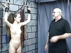 Young brunette slave has er...