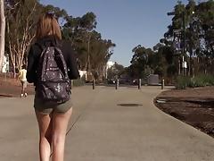 Sexy school babe shorts
