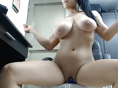 Jiggling Boobs Vibrator Pussy