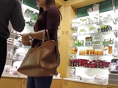 Soft Butt in Make-Up Store (Rework)