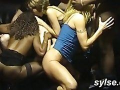 Sport Gangbang with 2 teens and...