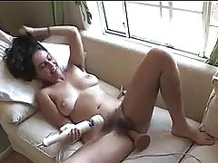 Hairy Teen Dildo Masturbation