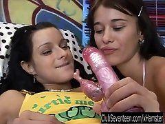Sexy teen lesbians toy cunts