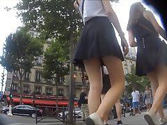 Upskirt - Cute teen shows underwear