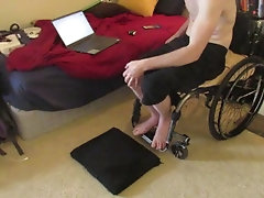 Paralyzed Guy Falls out of...