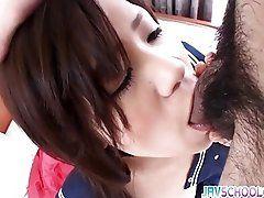 Yukari in her school uniform...