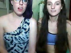 Two girls flashing on cam