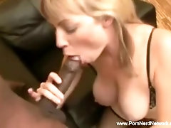 Blonde Babe Grooves On Some BBC...