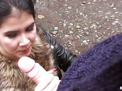 Beautiful Babe Agrees To Give...