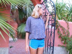 xhamster Blonde Skinny Beauty With Blue...