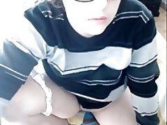Busty teen on webcam