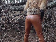 Outdoor sex with redhead teen in...