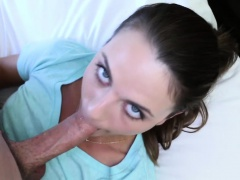 Horny chick Ally Tate feeds her...
