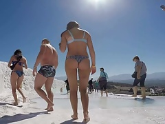 tourist Russian tight asses in...
