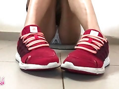 Worn Out Gym Shoe Sneakers With...
