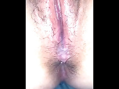 Daddy's cum are all inside me...