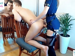 Anal penetration for poor guy ,...