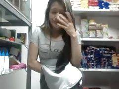 Teen At Work Vibrator...