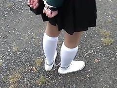 Schoolgirl white knee socks AND...