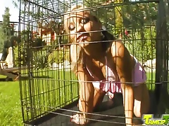 Tamed Teens Caged cutie let out...