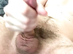 Hairy Cock Cumming In Bed